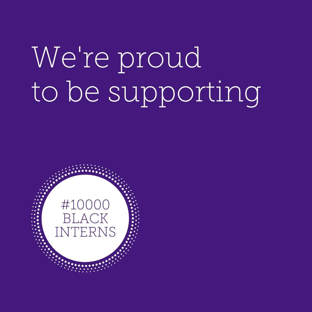 We support 10000 Black Interns